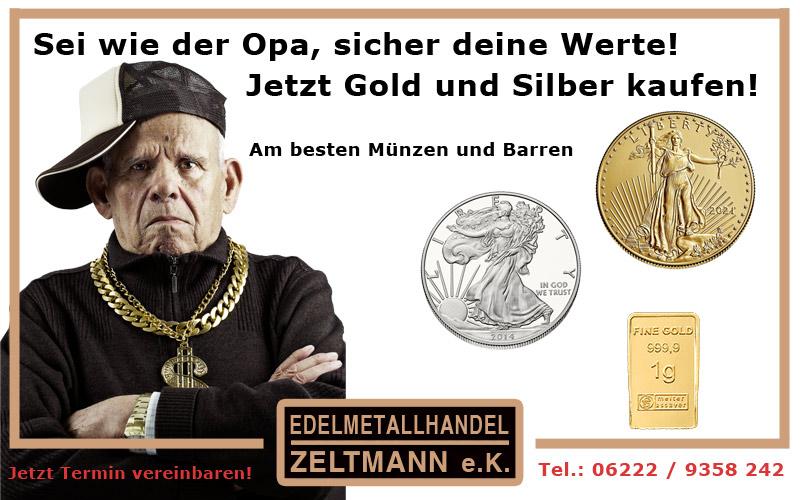 Anlage Gold kaufen wie Opa